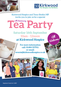 Kirkwood Hospice Tea Party Poster